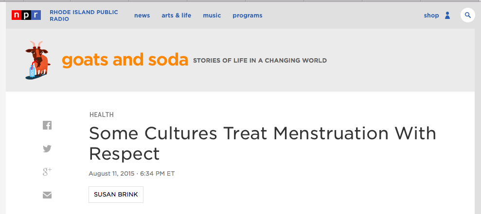 npr-susan-brink-menstruation-podcast-website-header