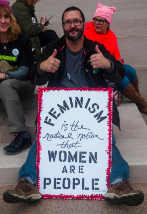 Poster-Feminism is the Radical Notion that Women are People (Photo by Alanna Vaglanos, Huff Post), cropped