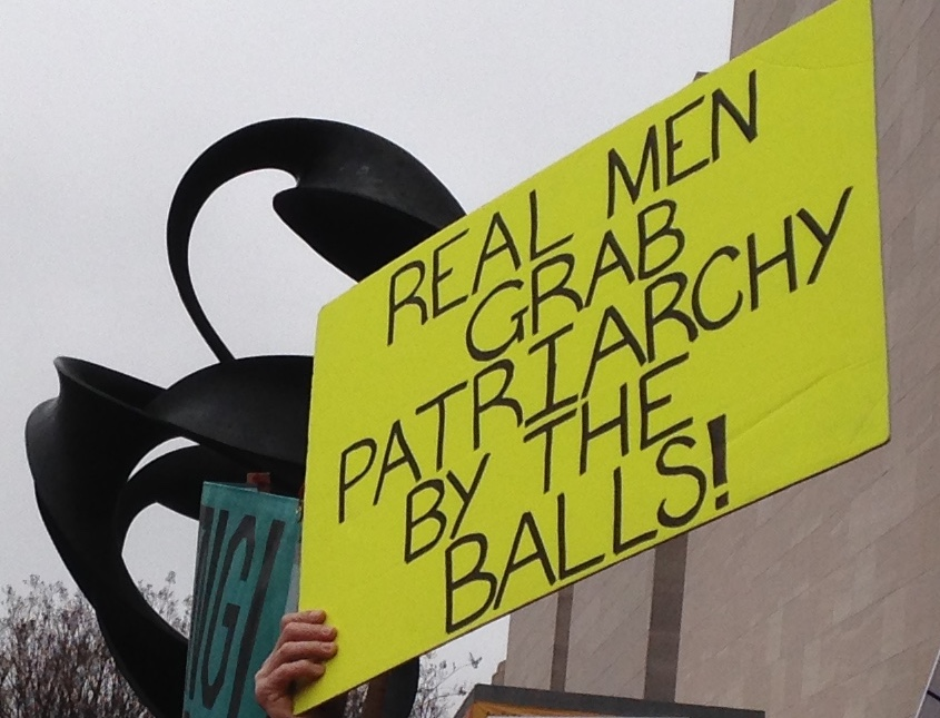 Poster, Real Men Grab Patriarchy by the Balls, Photo by MC