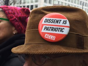 Button, Dissent is Patriotic, ACLU