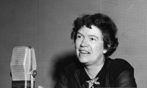 Mead Speaking on UN Radio, 1958