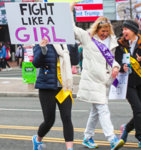 Poster, Fight Like a Girl, Alanna Vaglanos, Huff Post, cropped