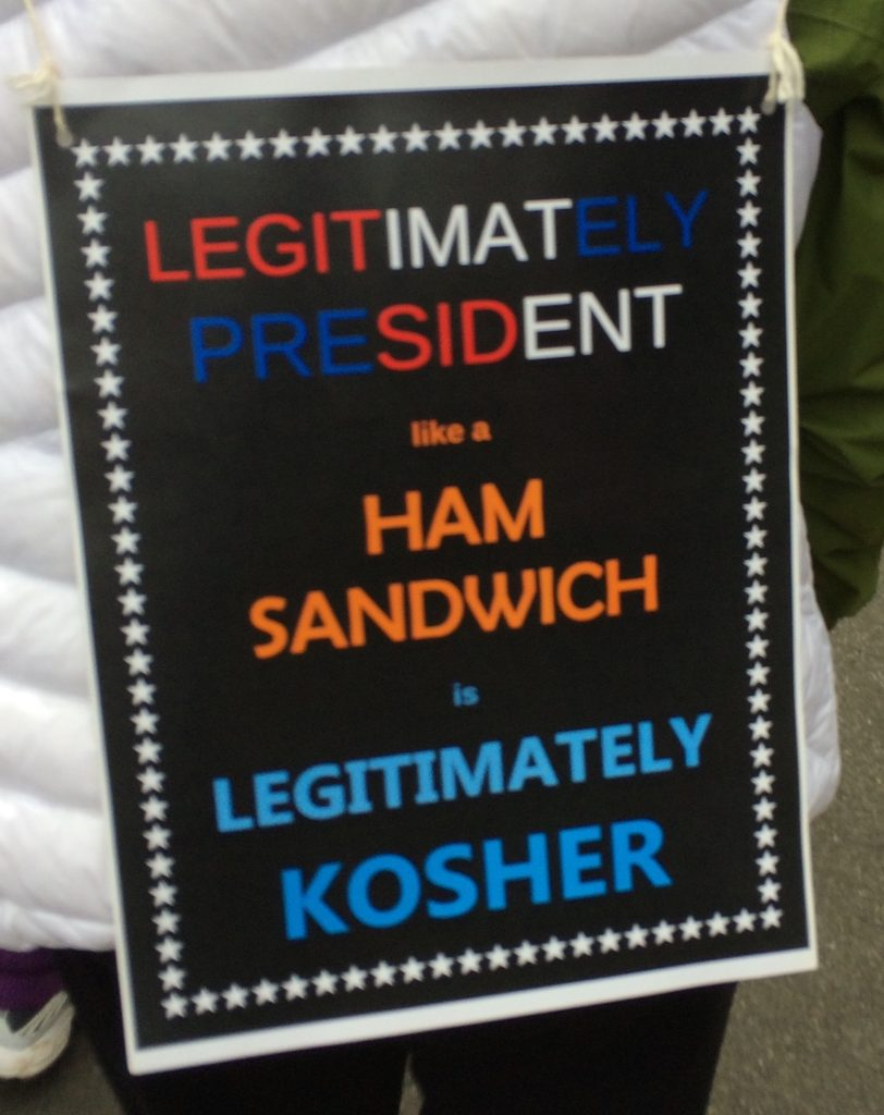 Poster, Legitimately President like a Ham Sandwich is Legitimately Kosher, cropped