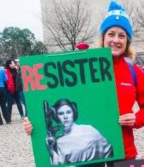 Poster, Resister, Alanna Vaglanos, Huff Post, cropped