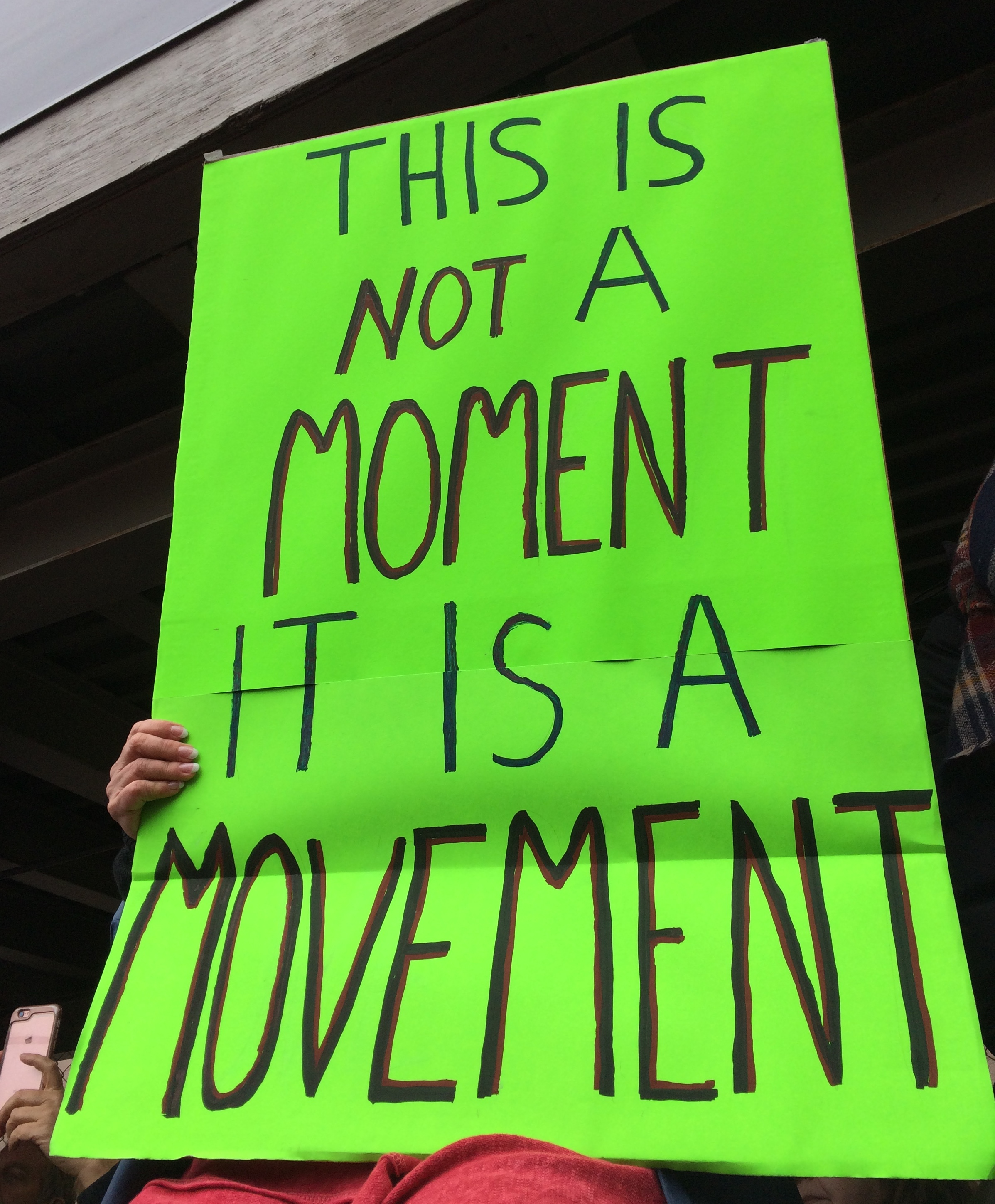 Poster, This is Not a Moment, It Is a Movement, cropped