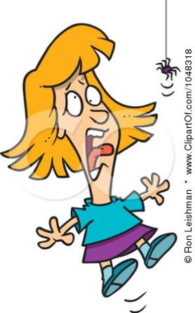 Girl Screams at Spider