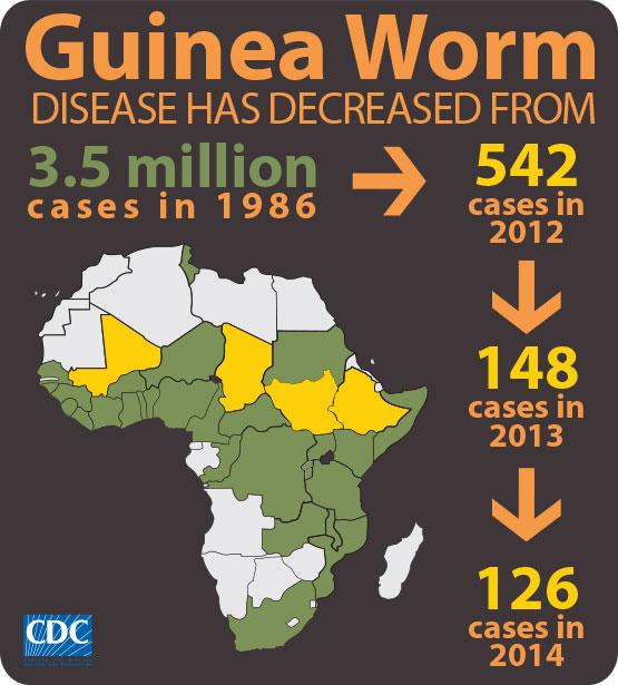 Guinea Worm Reduction Statistics
